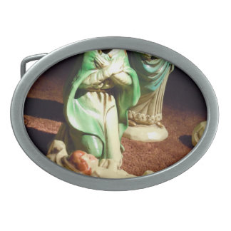Mary and Baby Jesus Belt Buckles