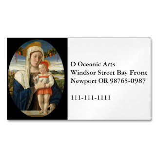 Mary and Child Under Garland Magnetic Business Cards