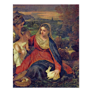 Mary and Christ child by Tiziano Vecelli Poster