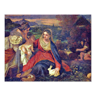 Mary And Christ Child St. Catherine And St. John 11 Cm X 14 Cm Invitation Card