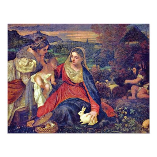 Mary And Christ Child St. Catherine And St. John Invite