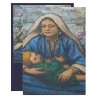 Mary and Jesus 13 Cm X 18 Cm Invitation Card