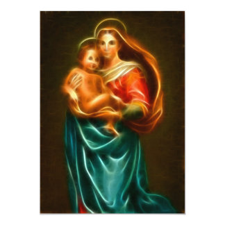 Mary And Jesus 13 Cm X 18 Cm Invitation Card