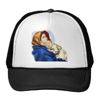 Mary and Jesus Mesh Hats