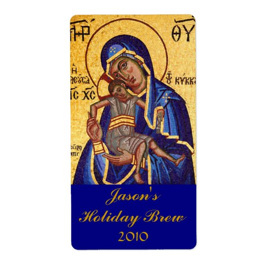 Mary and Jesus Holiday Home brewed beer Labels