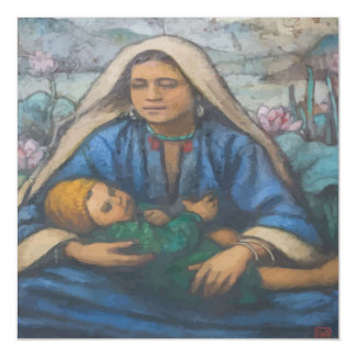 Mary and Jesus Magnetic Card