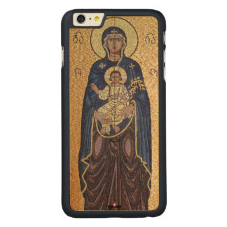 Mary And Jesus Mosaic Carved Maple iPhone 6 Plus Case