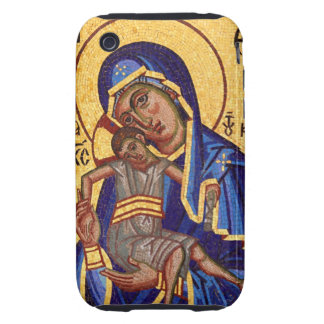 Mary and Jesus Mosaic iPhone 3 Tough Covers