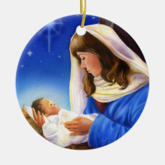 Mary and Jesus Ornament