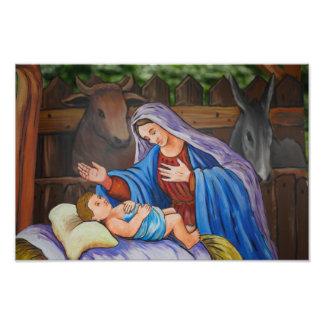 Mary and Jesus Art Photo
