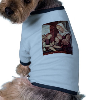 Mary And John The Baptist, Pray To The Christ Chil Doggie T Shirt