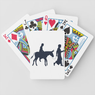 Mary and Joseph Christian Illustration Silhouettes Bicycle Playing Cards