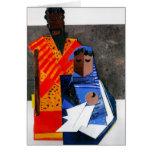 Mary and Joseph Cubist Christmas Card