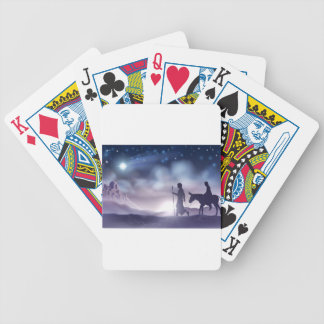 Mary and Joseph Nativity Christmas Illustration Bicycle Playing Cards