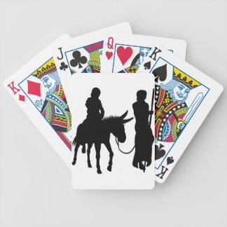 Mary and Joseph Nativity Silhouettes Bicycle Playing Cards