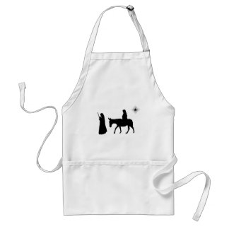 Mary And Joseph Silhouette Apron