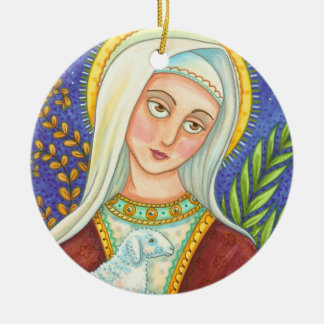 Mary And Lamb CHRISTMAS ORNAMENT