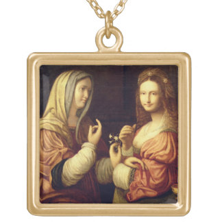 Mary and Martha (oil on panel) Custom Necklace