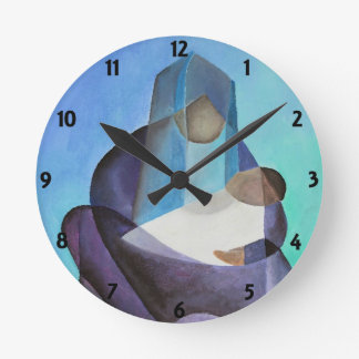 Mary and Messiah Round Clock
