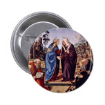 Mary And St. Elizabeth St. Nicholas And St. Anthon 6 Cm Round Badge