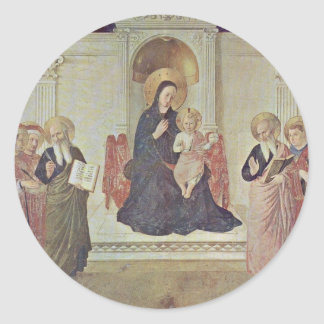 Mary And The Christ Child And Saints Round Sticker