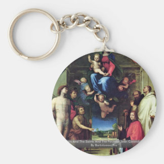 Mary And The Saints And The Founder Jean Carandole Keychains