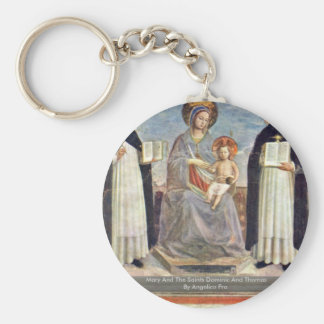 Mary And The Saints Dominic And Thomas Keychain