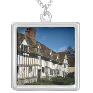 Mary Arden's House Silver Plated Necklace