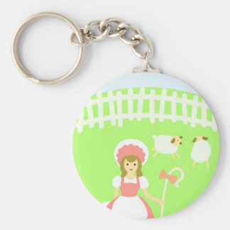 Mary Basic Round Button Key Ring