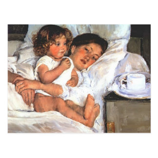 Mary Cassatt- Breakfast in Bed Postcard