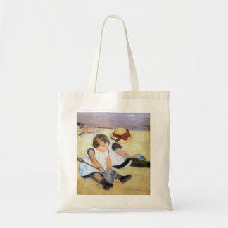 Mary Cassatt Children Playing on the Beach Tote Bags