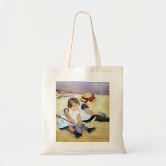 Mary Cassatt Children Playing on the Beach Tote Bags