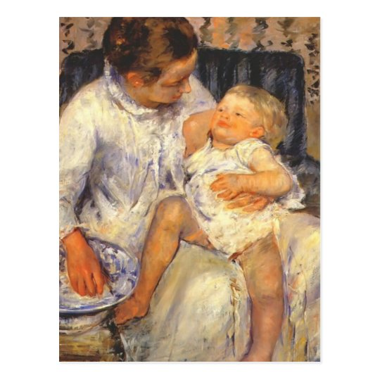 Mary Cassatt-Mother about to Wash her Sleepy Child Postcard