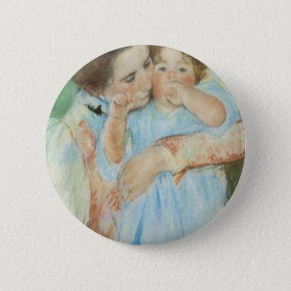 Mary Cassatt Mother and Child Mother's Day Card 6 Cm Round Badge
