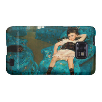 Mary Cassatt Painting of Child Girl With Dog Samsung Galaxy SII Cases