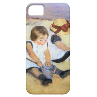Mary Cassatt Playing on the Beach iPhone 5 Case