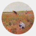 Mary Cassatt: Red poppies Stickers