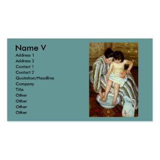 Mary Cassatt s The Child s Bath circa 1892 Business Card Templates