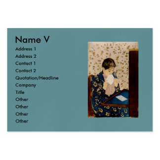 Mary Cassatt s The Letter circa 1891 Business Card Template