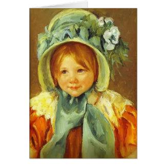 Mary Cassatt- Sarah in a Green Bonnet Card