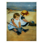 Mary Cassatt's Children on the Beach  (1884)