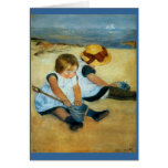 Mary Cassatt's Children on the Beach  (1884) Cards