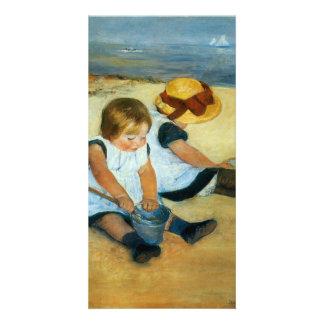 Mary Cassatt's Children on the Beach  (1884) Photo Greeting Card