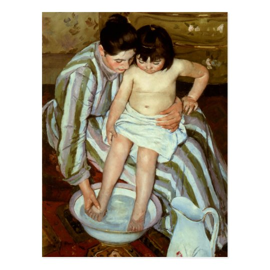 Mary Cassatt's The Child's Bath (circa 1892) Postcard