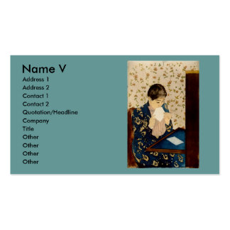Mary Cassatt's The Letter (circa 1891) Pack Of Standard Business Cards
