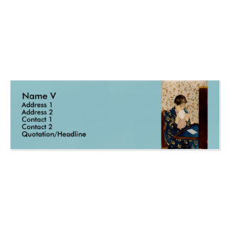 Mary Cassatt's The Letter (circa 1891) Double-Sided Mini Business Cards (Pack Of 20)
