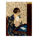 Mary Cassatt's The Letter (circa 1891) Postcard