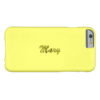 Mary Customized Light Yellow iPhone case Barely There iPhone 6 Case