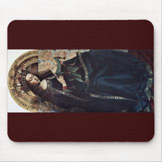 Mary Enthroned By Eyck Hubert Van Mousepad