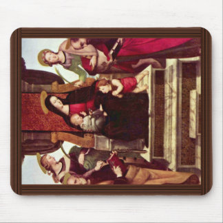 Mary Enthroned With Christ Child St. John The Bapt Mouse Pad